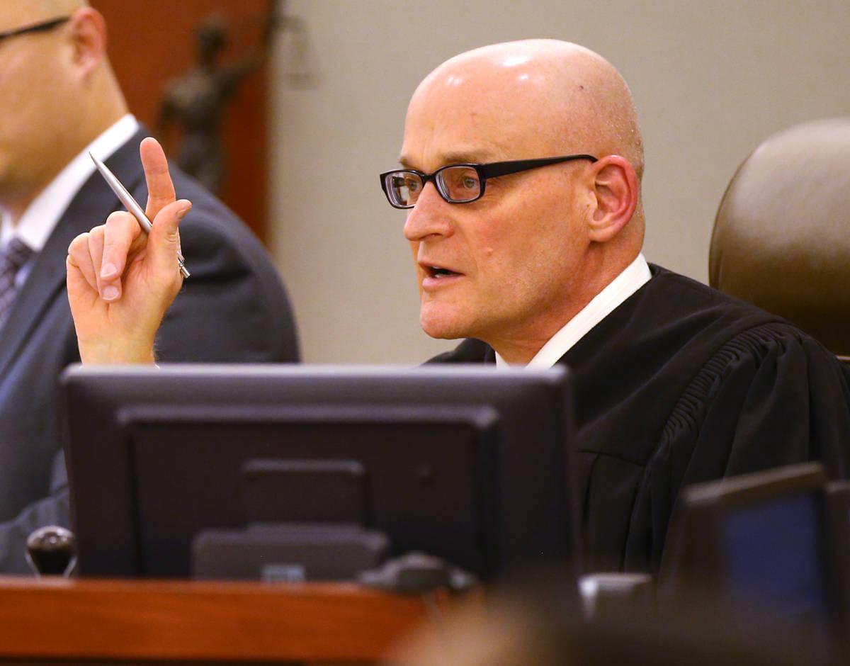 Clark County District Judge Rob Bare. (K.M. Cannon/Las Vegas Review-Journal) @KMCannonPhoto