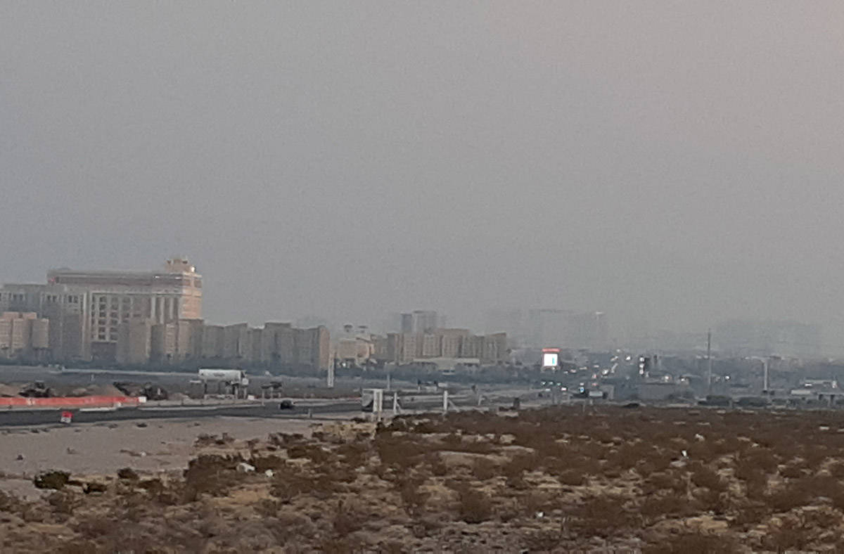 Clark County has issued a smoke advisory for the Las Vegas Valley through the weekend due to el ...