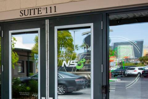 An exterior view of the offices of cybersecurity company NS8 in downtown Las Vegas on Friday, S ...
