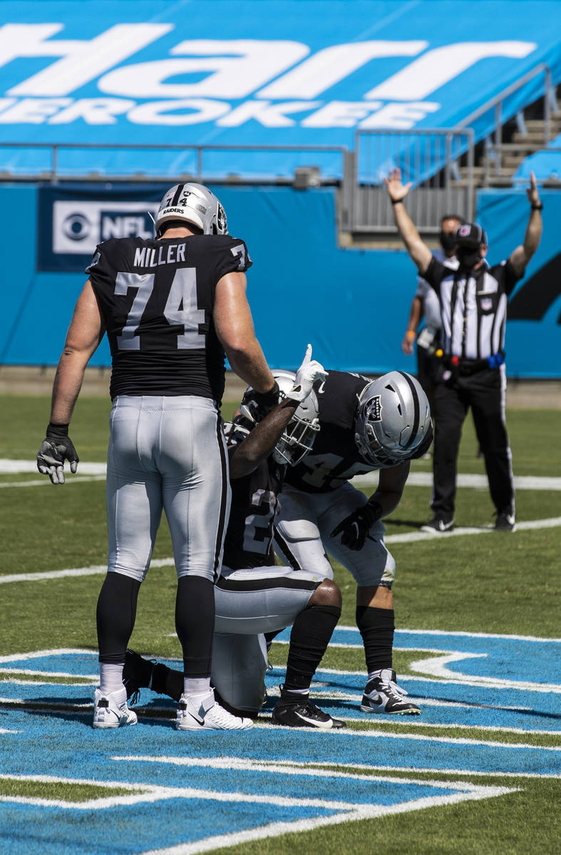 in the _ quarter of an NFL football game on Sunday, Sept. 13, 2020, at Bank of America Stadium, ...