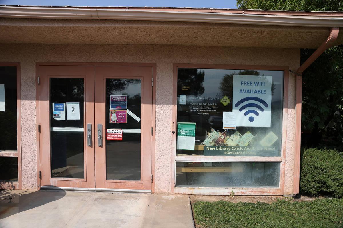 Indian Springs Library in Indian Springs, Tuesday, Sept. 15, 2020. (Erik Verduzco / Las Vegas R ...