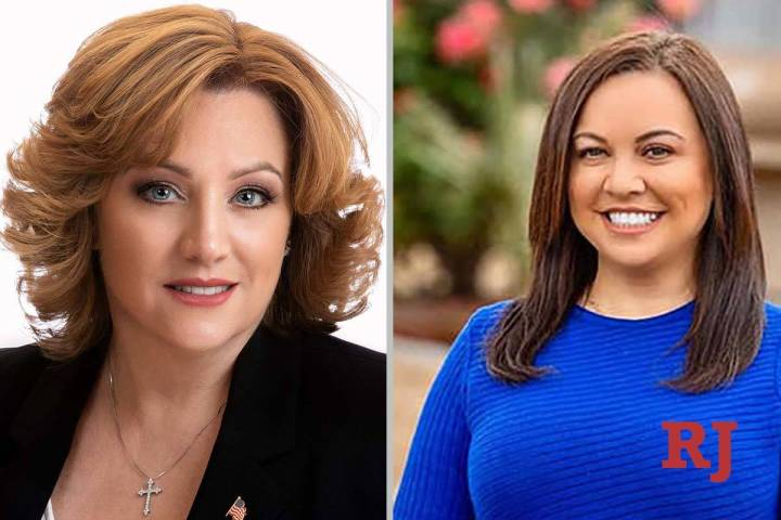 Cherlyn Arrington, left, and Elaine Marzola, candidates for Nevada Assembly District ...