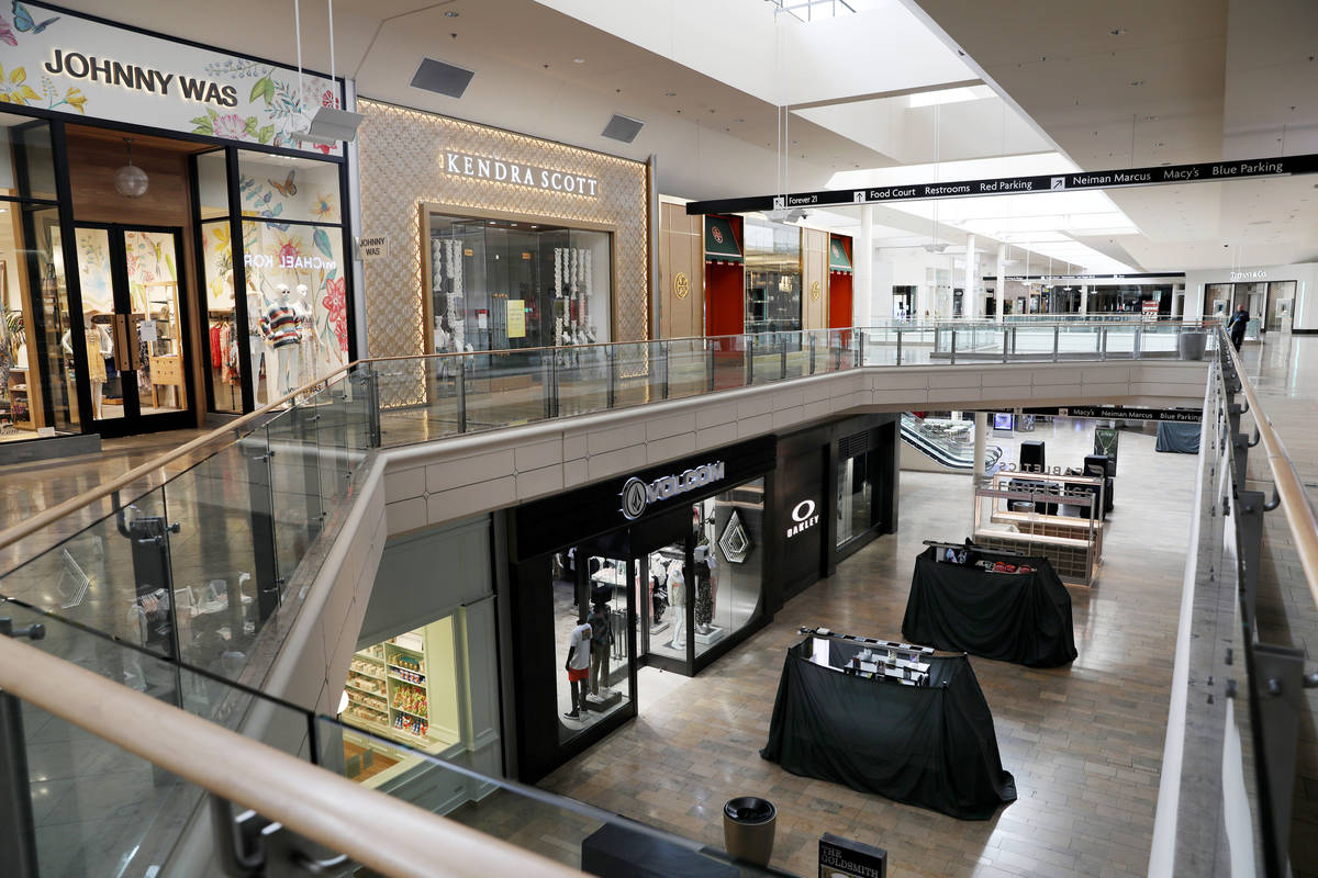 Fashion Show mall in Las Vegas closes down on Wednesday, March 18, 2020. (Elizabeth Page Brumle ...