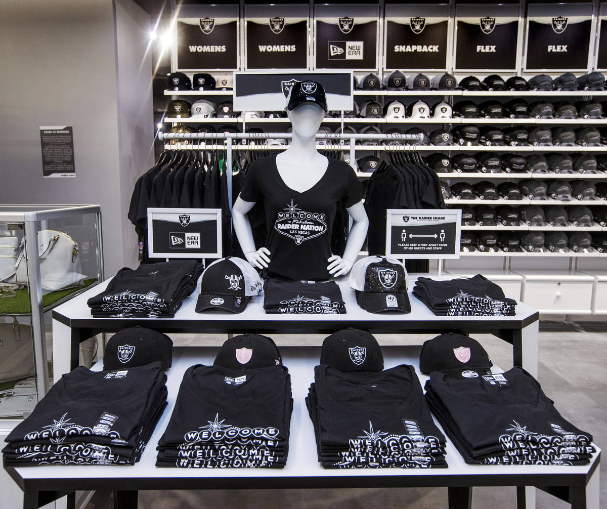 Items with a Las Vegas design are for sale within The Raider Image official team store inside o ...