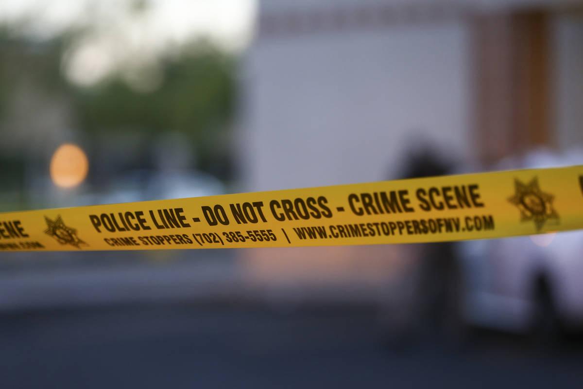 Crime scene tape. (Review-Journal file photo)
