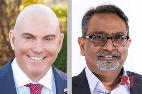 Byron Brooks and Swadeep Nigam, candidates for Nevada System of&# ...