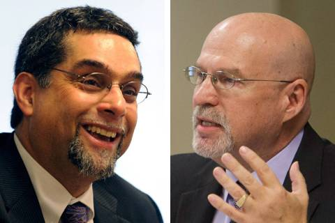 Rene Cantu, left, and Mark Newburn (Las Vegas Review-Journal/File)