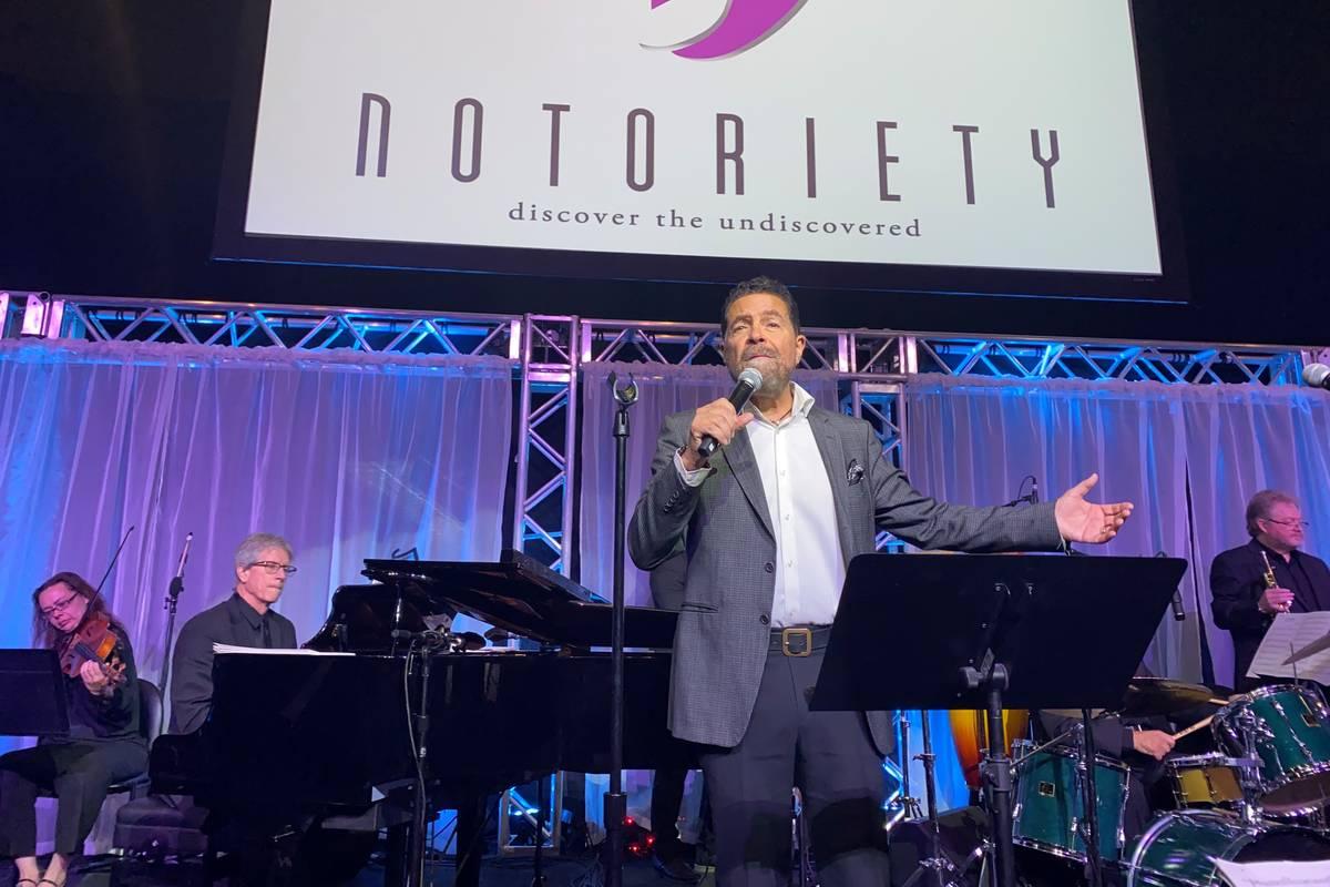 Clint Holmes is shown performing at Notoriety at Neonopolis on Sunday, Nov. 10, 2019. (John Kat ...