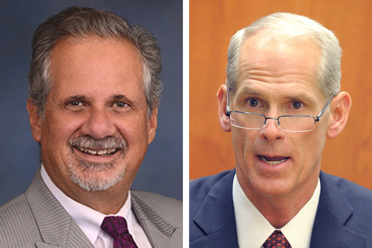 Ozzie Fumo, left and Douglas Herndon, candidates for Nevada Supreme Court. (Courtesy)