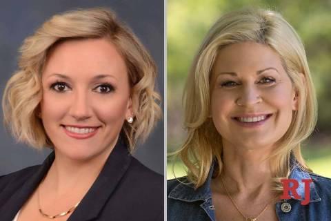 NicoleCannizzaro, left, and AprilBecker, candidates for Nevada Senate District 6 (F ...
