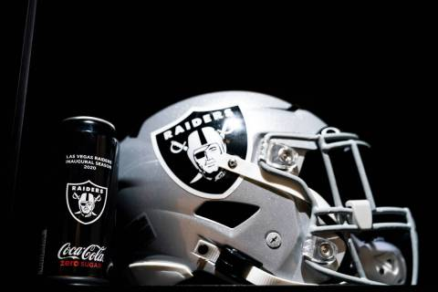 Las Vegas Raiders-branded Coca Cola Cans at Intermountain Healthcare Performance Center, Wednes ...