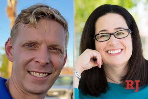 Steven DeLisle and Lesley Cohen, candidates for Nevada Assembly District 29. (Facebook)
