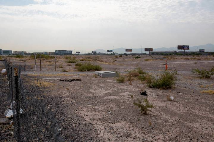A vacant lot near the intersection of South Las Vegas Boulevard and Hidden Well Road on Friday, ...