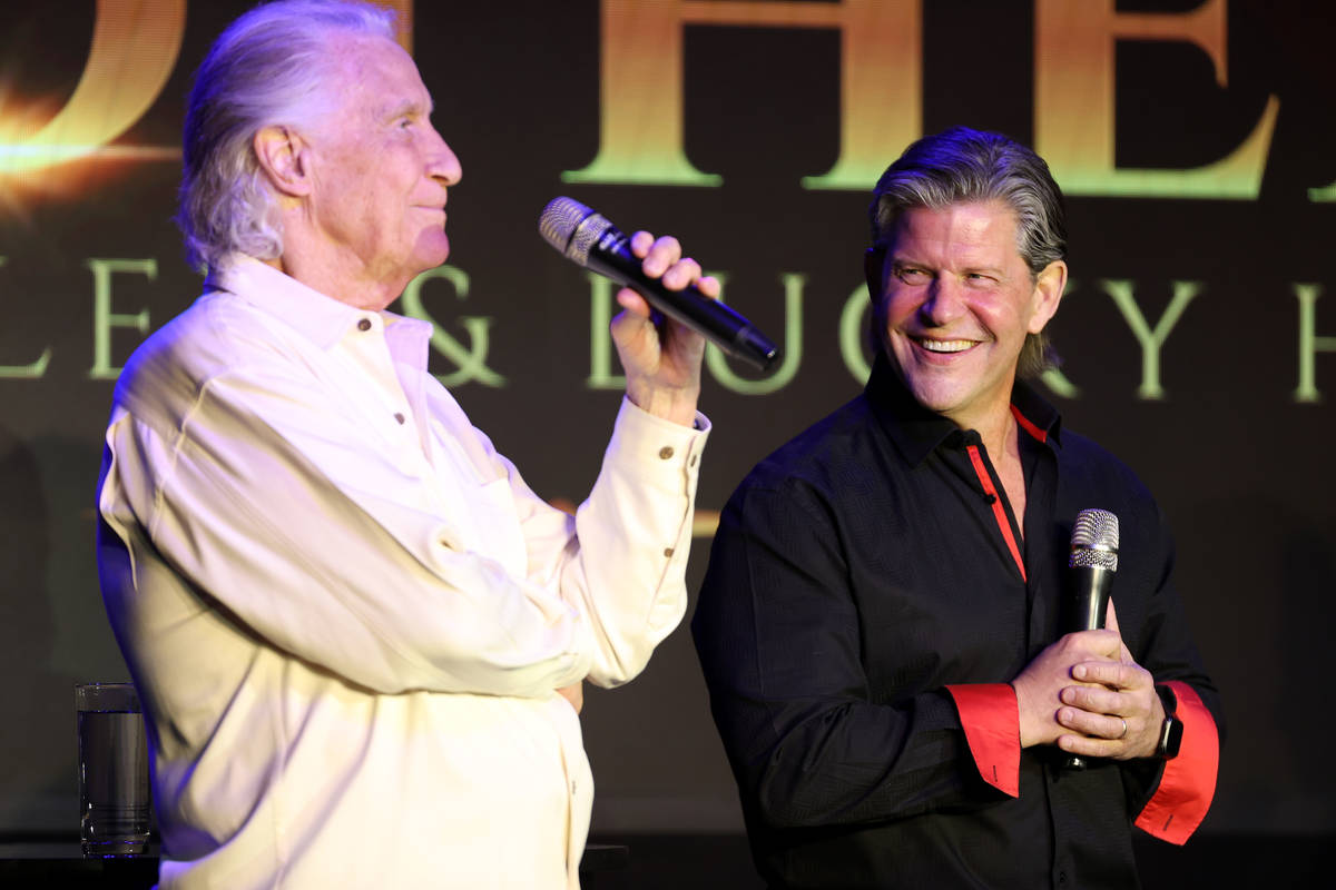 Bill Medley, left, and Bucky Heard of the Righteous Brothers participate during a new streaming ...