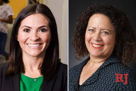 Sandra Jauregui, left, and Victoria DaCosta, candidates for Nevada Assembly Dist ...