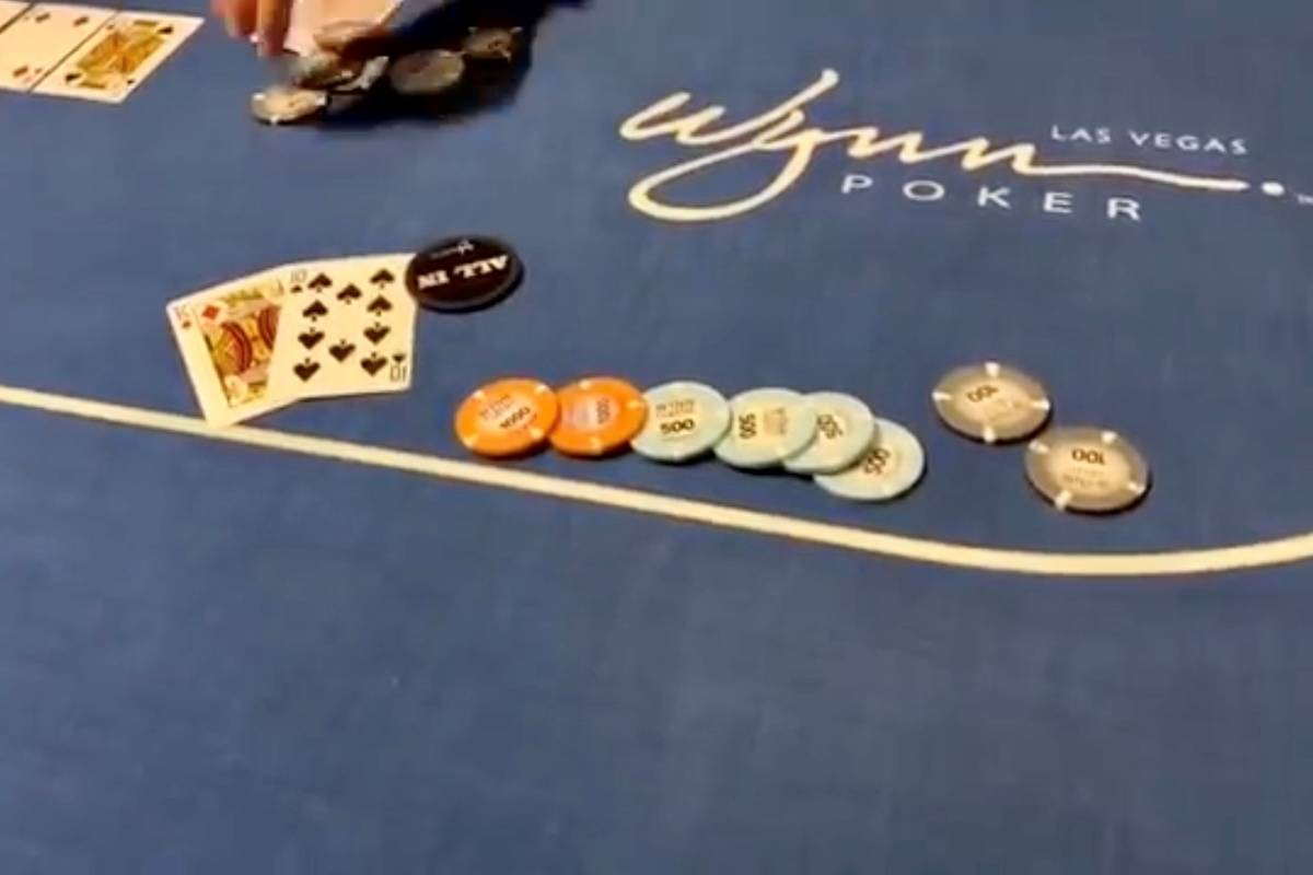 """Footage from a poker tournament at Wynn Las Vegas is included in a YouTube video posted by """"vlo ..."""