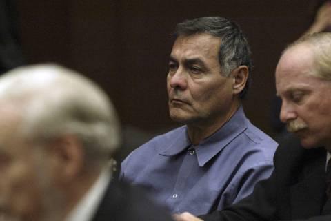 Frank LaPena, left, and his Las Vegas attorney Carmine Colucci listens as former Supreme Court ...