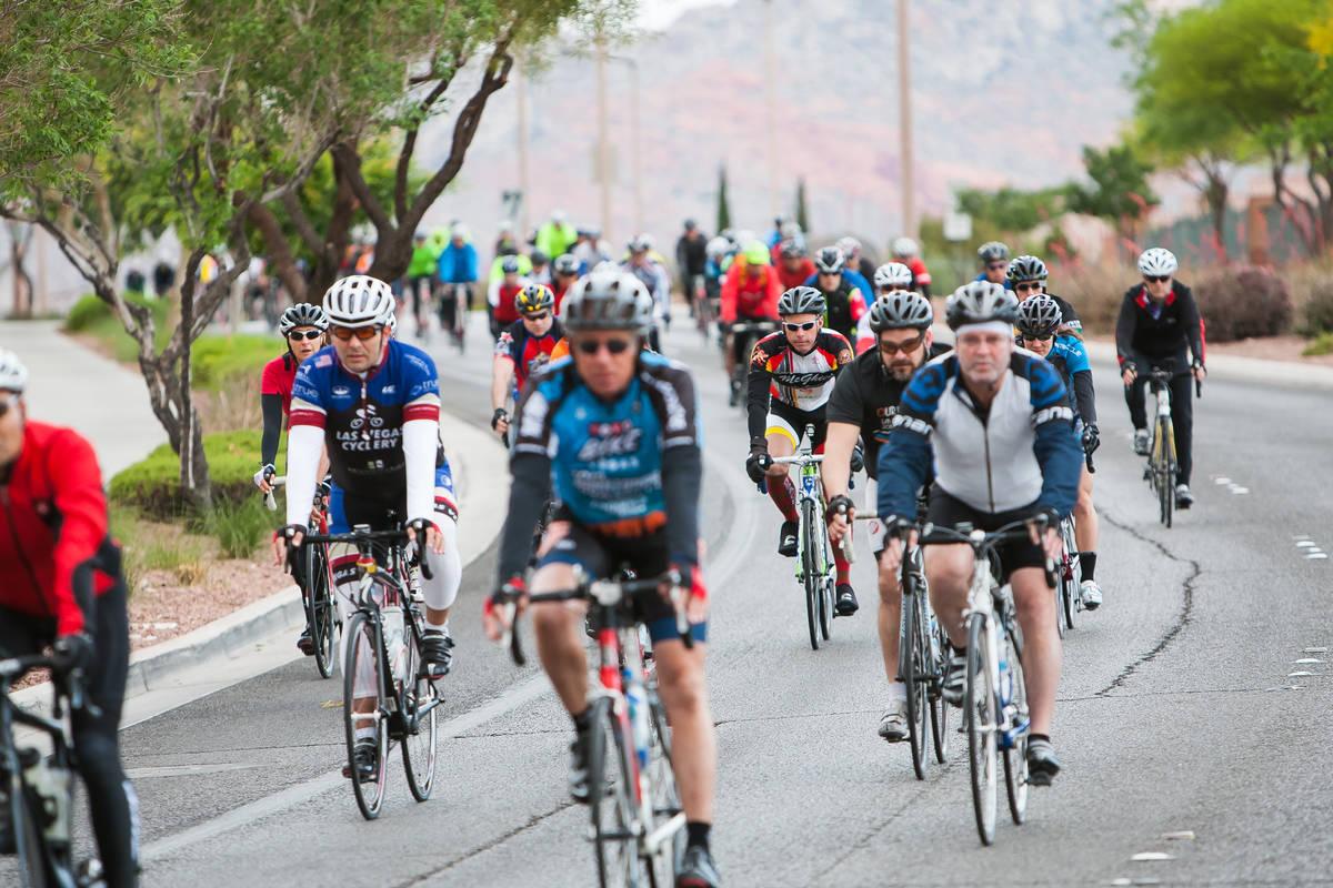 Cyclists ride in Tour de Summerlin. (Las Vegas Review-Journal)