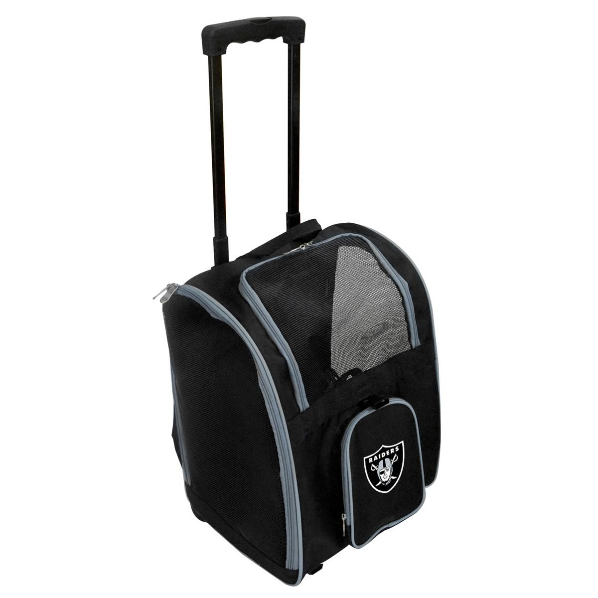 You and your Raiders-loving pet will be on a roll with this bag, which includes a faux-fur pad ...