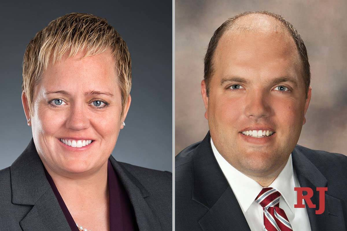 TaraClarkNewberry and JacobReynolds, candidates for DistrictCourtDepartment21 (Face ...