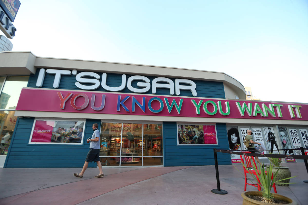 It's Sugar candy store at the Grand Bazaar Shops in Las Vegas, Wednesday, Sept. 23, 2020. (Erik ...