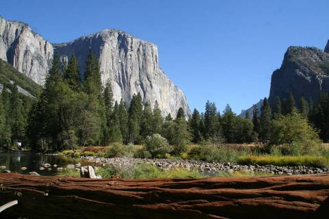 El Capitan is a 3,000 foot high granite monolith that is extremely popular with climbers. (Debo ...