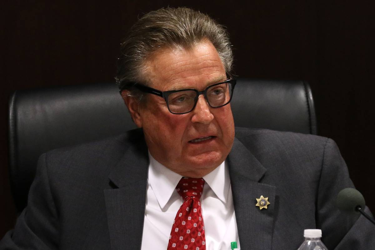 Commissioner John T. Moran Jr., speaks during a meeting of the Nevada Gaming Commission on Tues ...
