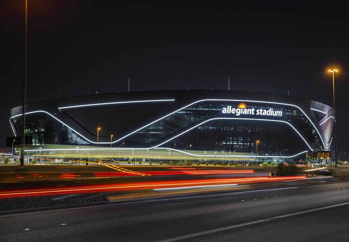 Allegiant Stadium on Wednesday, Aug. 26, 2020, in Las Vegas. (Benjamin Hager/Las Vegas Review-J ...