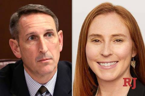 Scott Hammond and Liz Becker, candidates for Nevada Senate District 18 (Las Vegas Rev ...