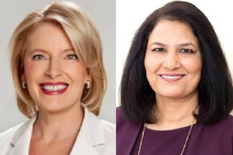 Heidi Kasama, left, and Radhika Kunnel (Las Vegas Review-Journal)