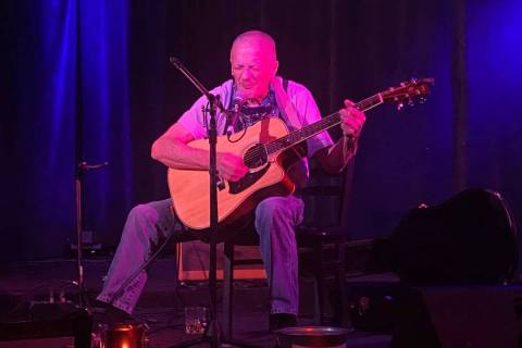 Gold Top Bob performs at Sand Dollar Lounge on Saturday, July 31, 2020. (John Katsilometes/Las ...