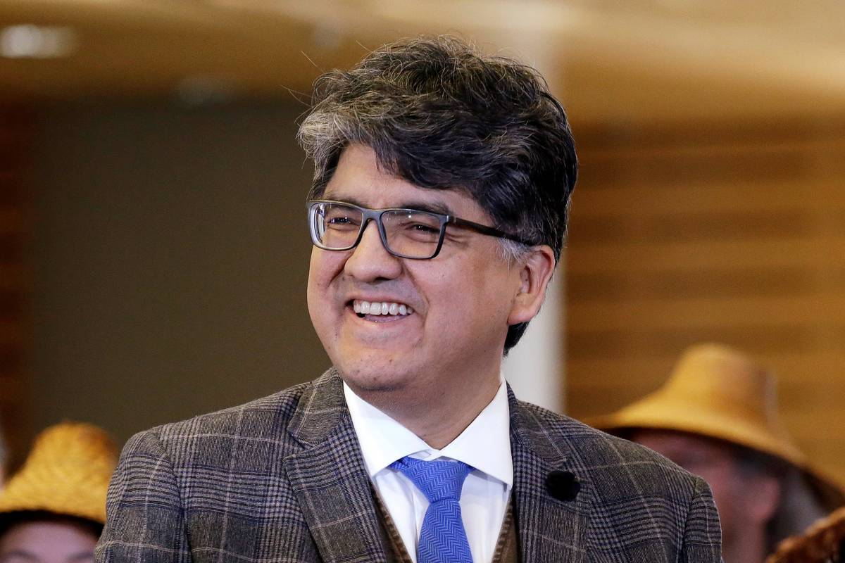 Author and filmmaker Sherman Alexie appears at a celebration of Indigenous Peoples' Day at Seat ...