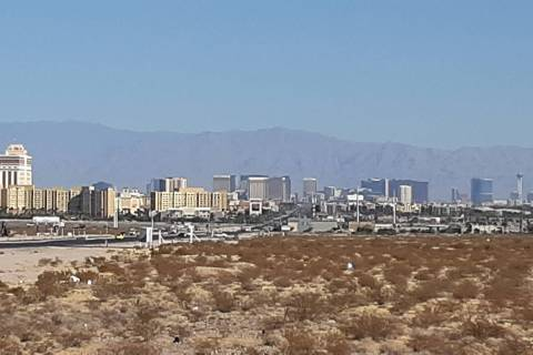 The Sheep Range can be seen from the south end of the Las Vegas Valley about 9:25 a.m. Monday, ...