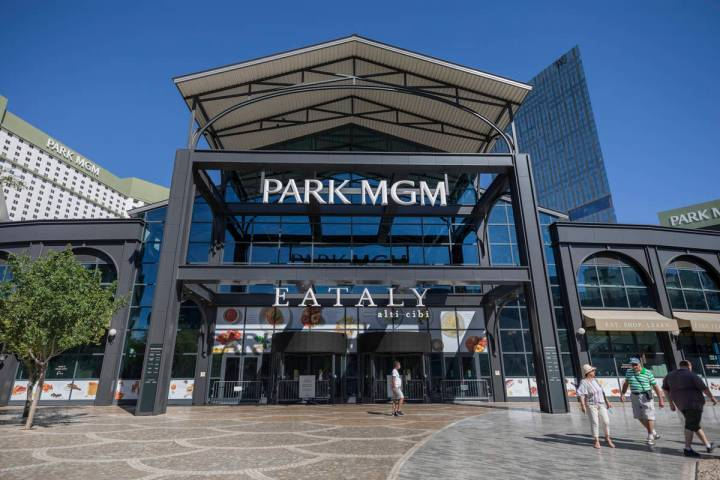 A view of Park MGM along the Las Vegas Strip on Wednesday, Aug. 12, 2020. (Elizabeth Brumley/La ...