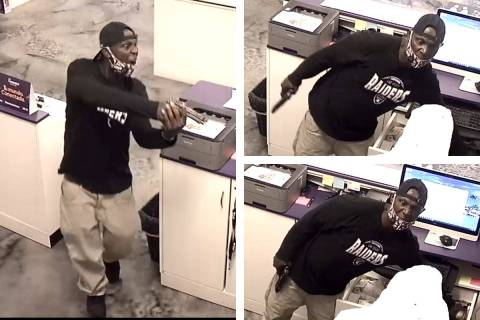 Police are seeking a man in connection to an armed robbery Thursday, Sept. 24, 2020, on the 170 ...