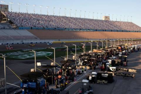 Las Vegas Motor Speedway is without spectators because of COVID-19 duringa NASCAR Cup Ser ...