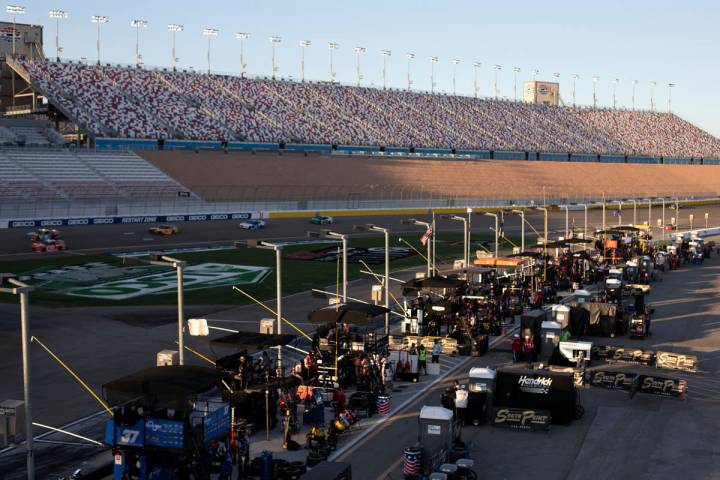 Las Vegas Motor Speedway is without spectators because of COVID-19 during a NASCAR Cup Ser ...