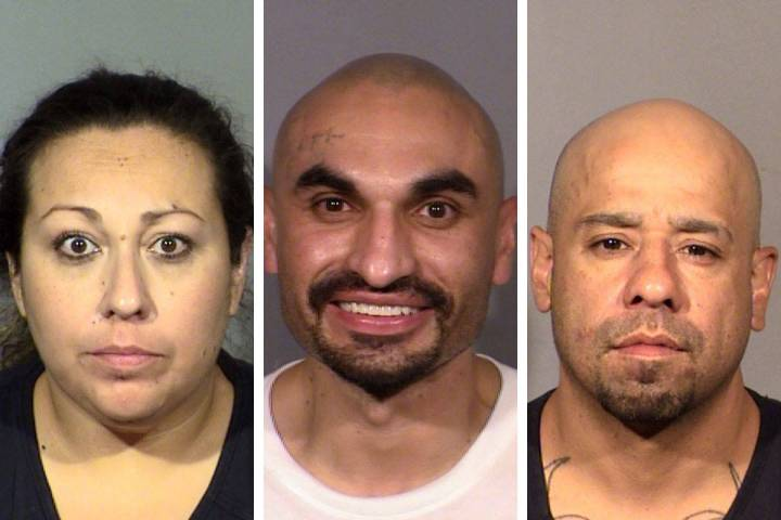Eva Castellanos, from left, Martin Romero and Ruben Sapien (Las Vegas Metropolitan Police Depar ...