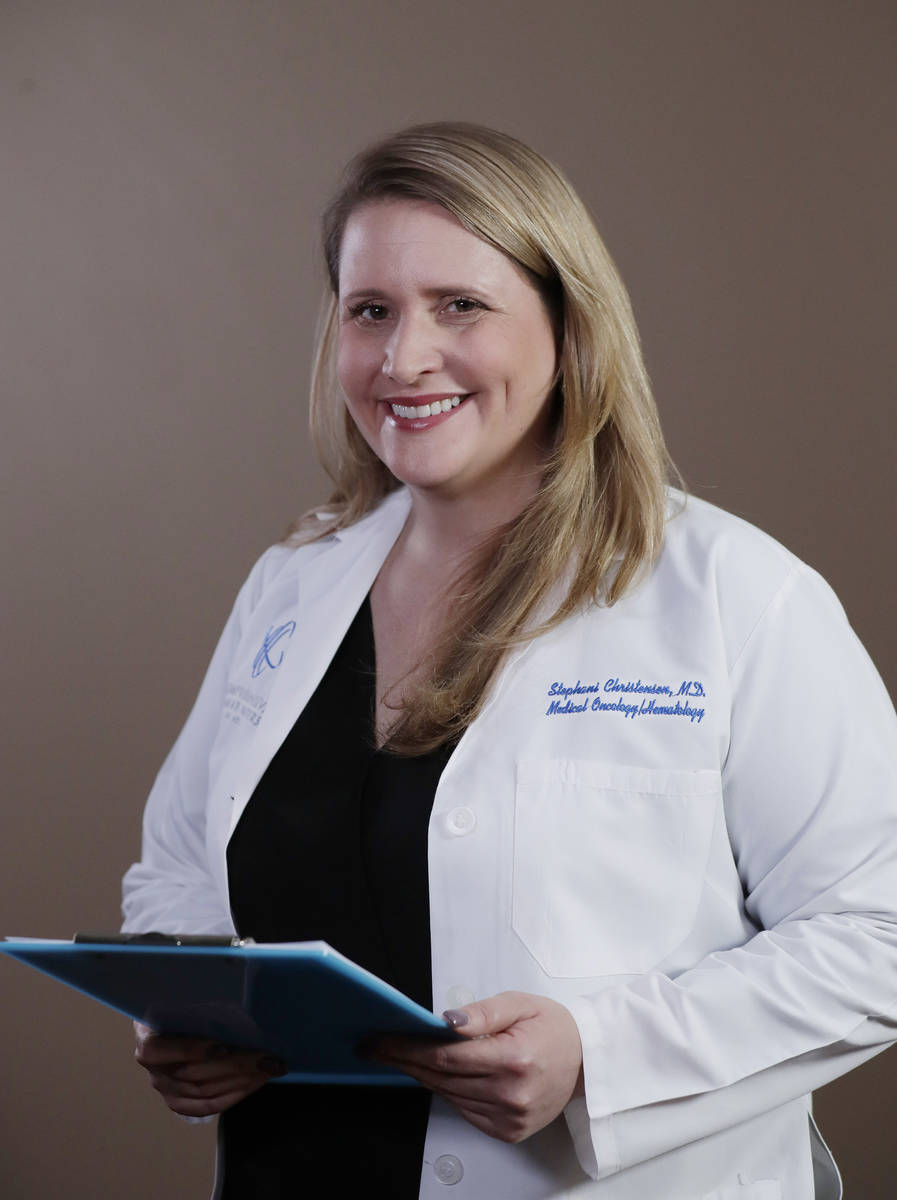 Stephani Christensen is a medical oncologist at the Comprehensive Cancer Centers.