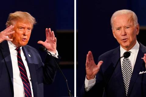 President Donald Trump, left, and former Vice President Joe Biden (AP Photo/Patrick Semansky)