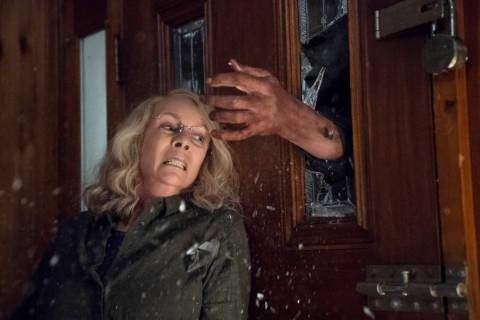 "Jamie Lee Curtis appears in a scene from ""Halloween."" (Ryan Green/Universal Pictures)"