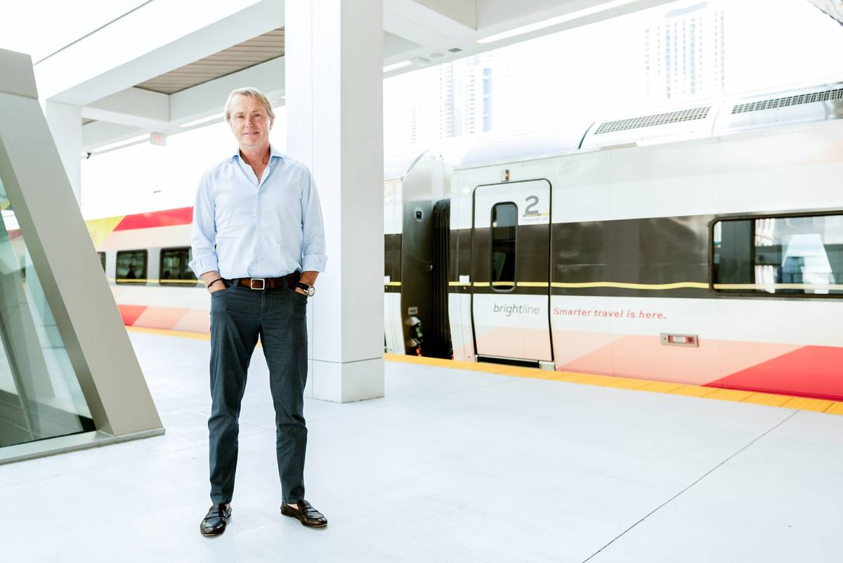 Wes Edens, co-founder of Fortress Investment Group, who owns Brightline, is eager for construct ...