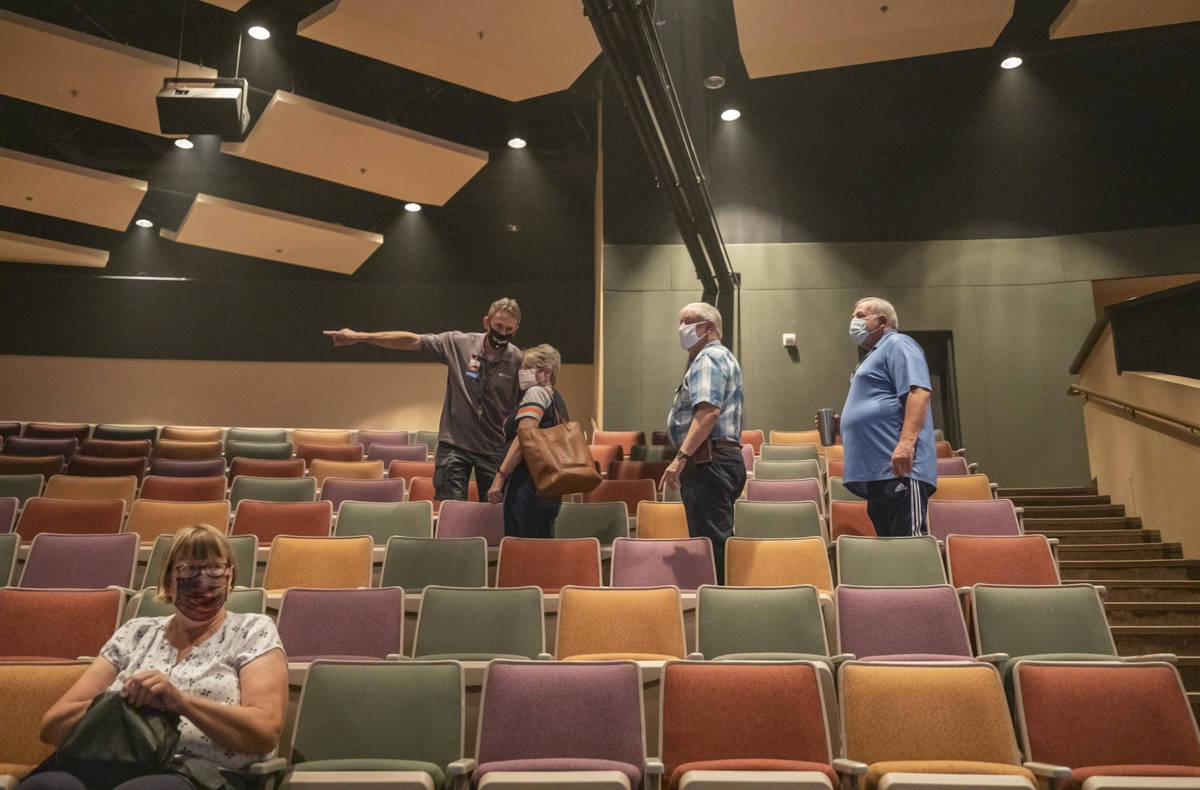 Ushers seat attendees to remain socially distanced at Canyon Ridge Christian Church during the ...