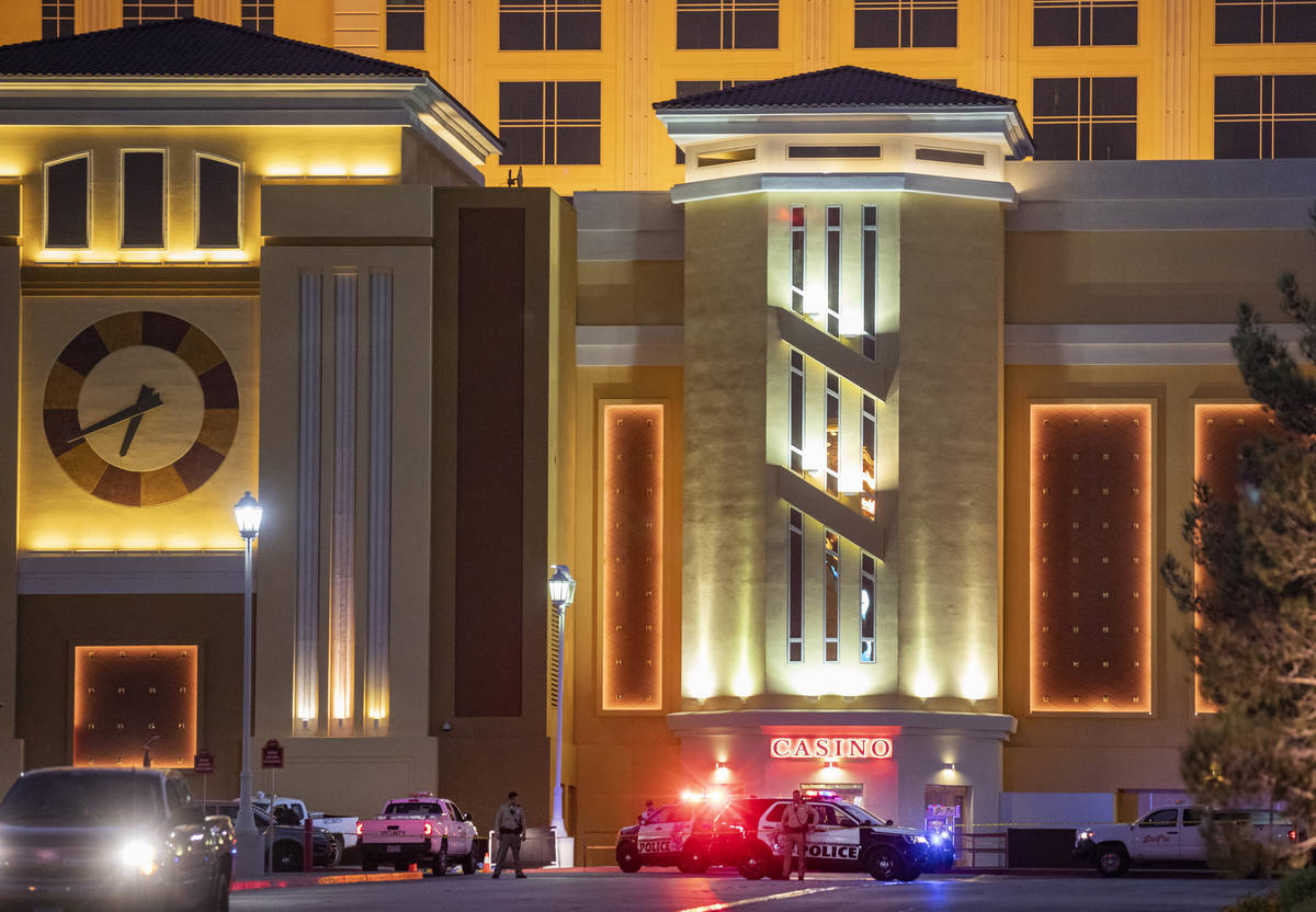 Metropolitan Police Department undergo a homicide investigation at South Point on Sunday, Oct. ...