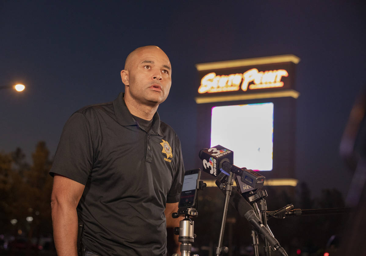 Metropolitan Police Department Lt. Ray Spencer gives a media briefing regarding a homicide inve ...