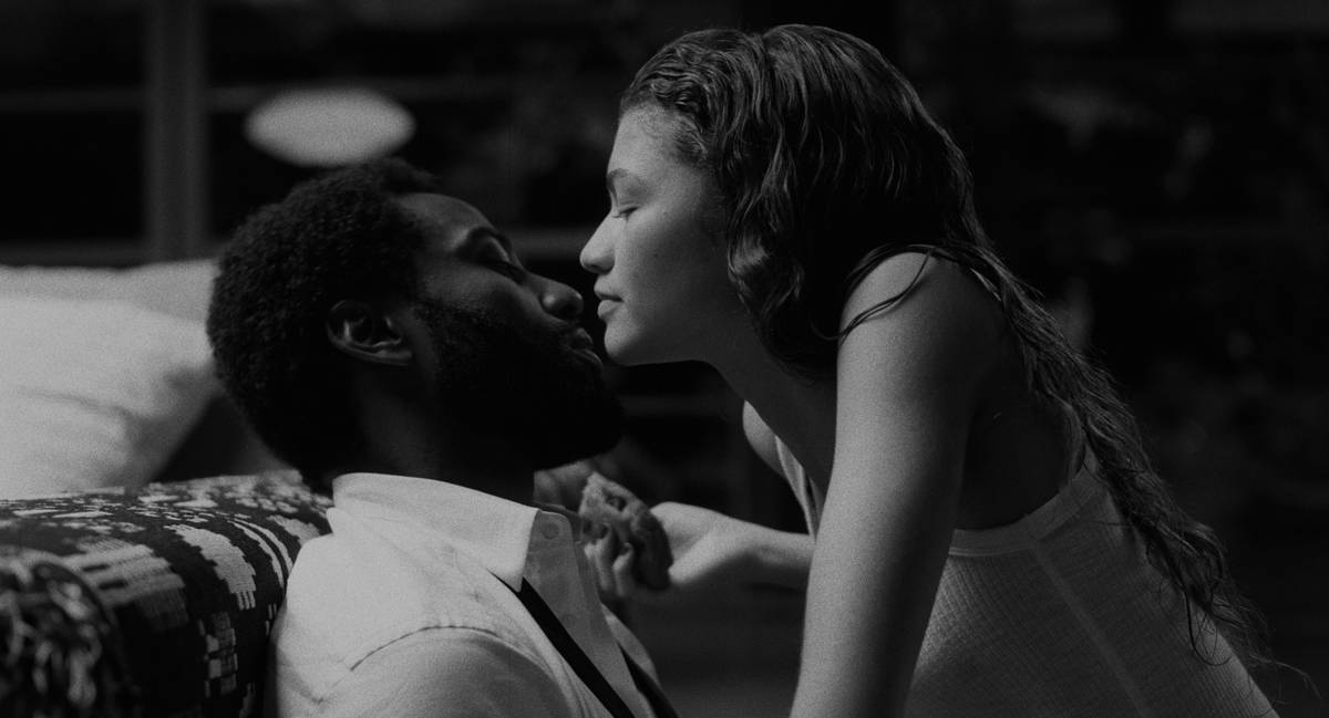 """John David Washington and Zendaya star in """"Malcolm & Marie."""" (Netflix)"""