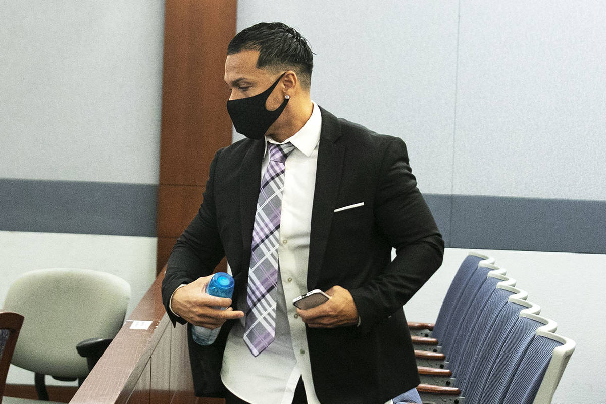 Ernesto Joshua Ramos leaves the courtroom at the Regional Justice Center on Wednesday, Oct. 7, ...