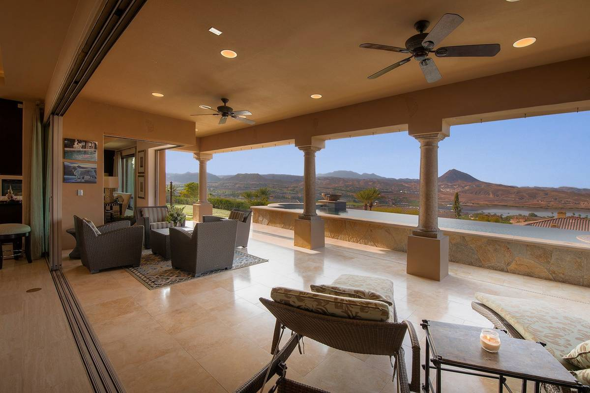 The covered patio is expansive. (Synergy Sotheby's International Realty)