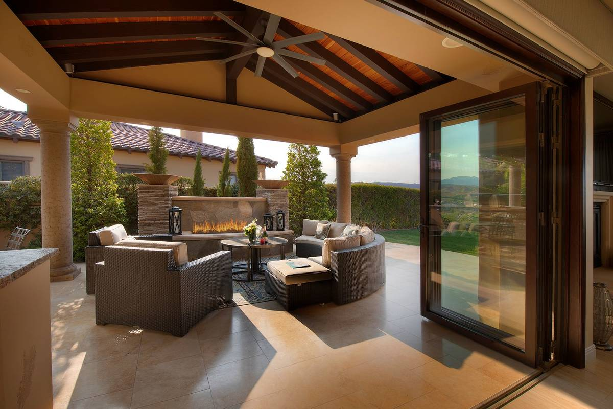 The covered patio. (Synergy Sotheby's International Realty)