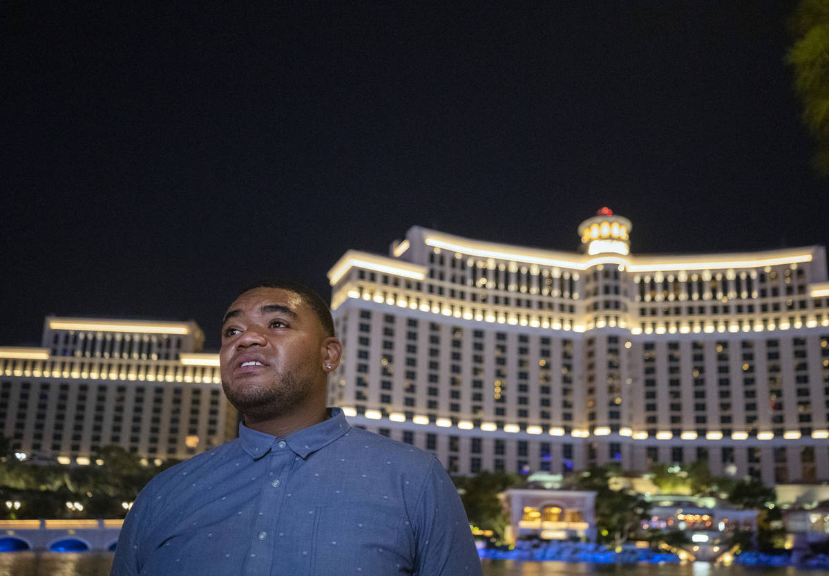 Tourist from Greensboro, N.C., Freddie McKinney, discusses his knowledge of recent violence on ...